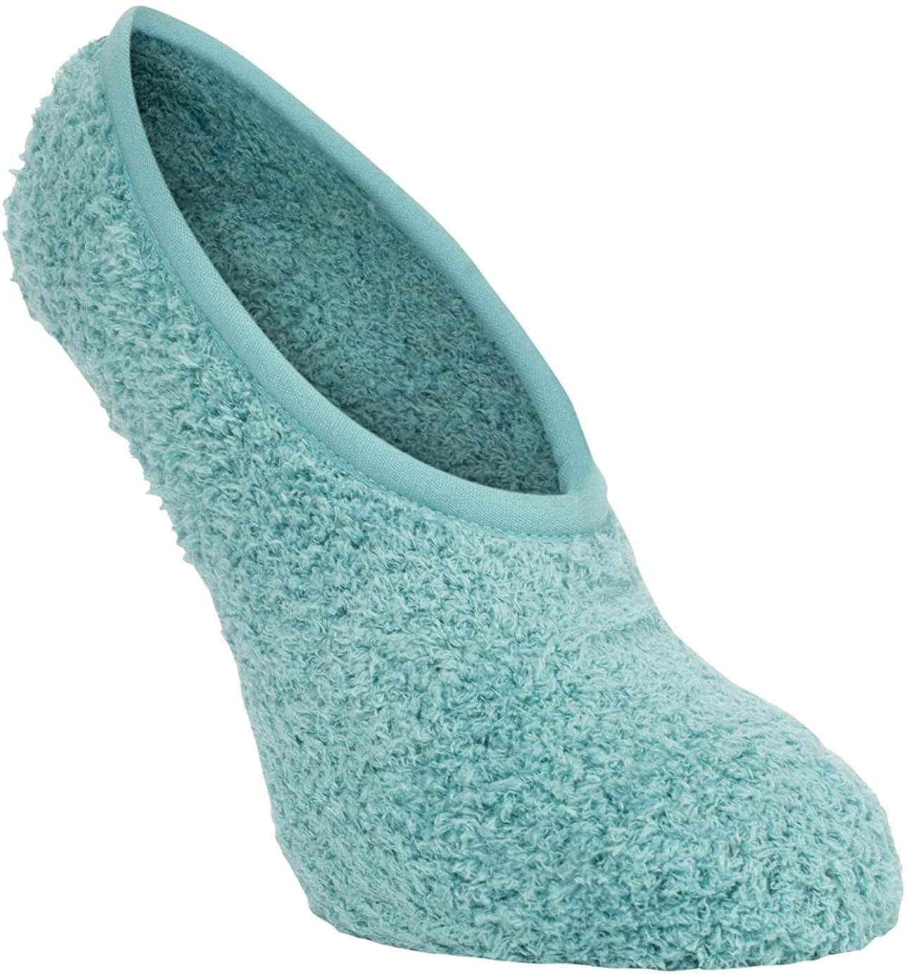 World's Softest Women's One Size Sea Foam Blue Cozy No-Show Footsie Socks