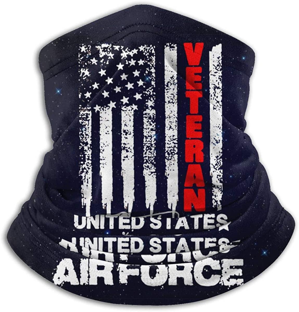Men and Women USA Air Force Veterans Neck Warmer Headwear Face Scarf Mask