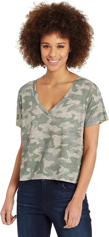 Skinnygirl Women's Dahlia V Neck Short Sleeve Tee Shirt
