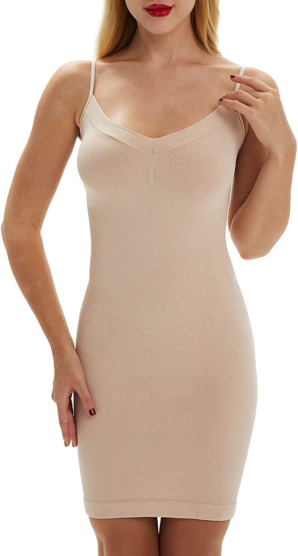 Belugue Womens Full Control Slip Shapewear Slim Cami Under Dress Body Shaping Layering