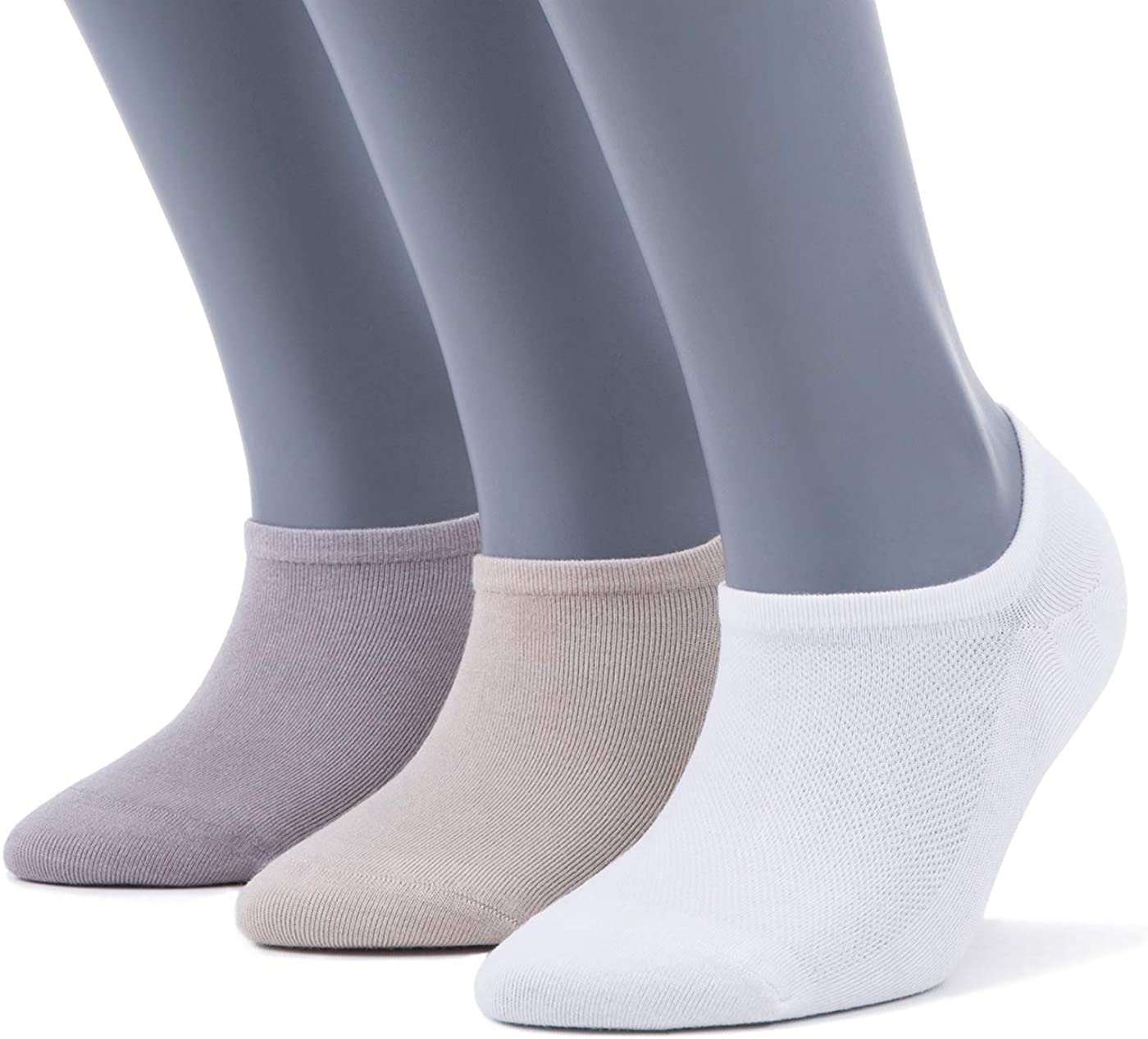 Bambooven Women's 3 or 6 Pairs Premium Ultra Soft Bamboo No Show Casual Socks