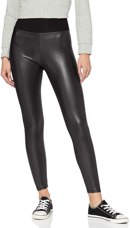 Urban Classics Ladies - High Waist Faux Leather Leggings