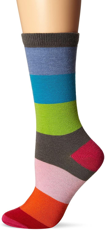 K. Bell Women's Single Pack Fashion Stripe Crew Socks