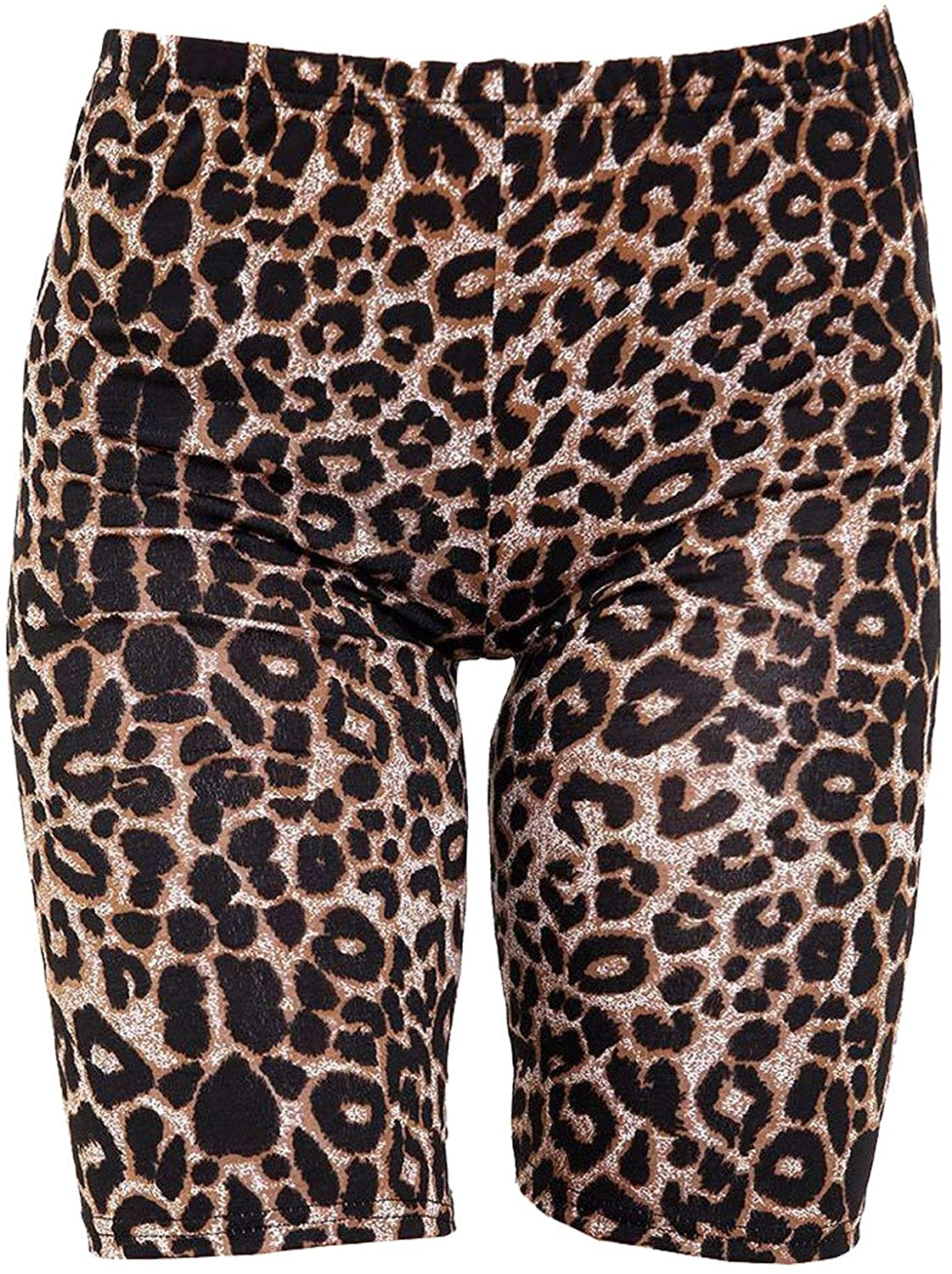 Rimi Hanger Womens Camouflage Leopard Print Cycling Shorts Ladies Sports Gym Wear Hot Pants S/2XL