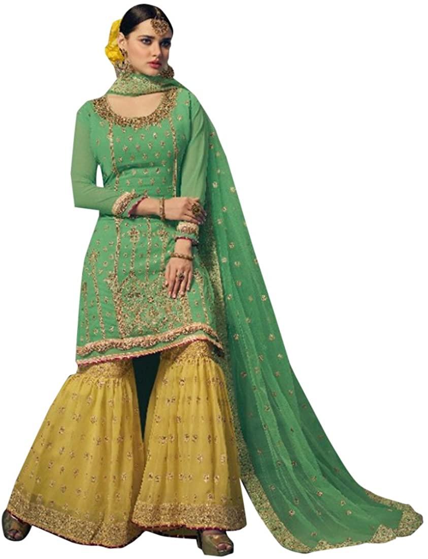 Designer Eid Festival Bollywood Collection Straight Kameez Garara Custom to Measure festive party wear Ceremony Sharara Muslim 2762 2
