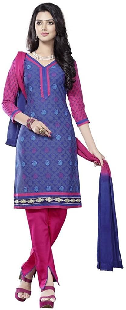 MINU Women's Cotton Unstiched Dress Material
