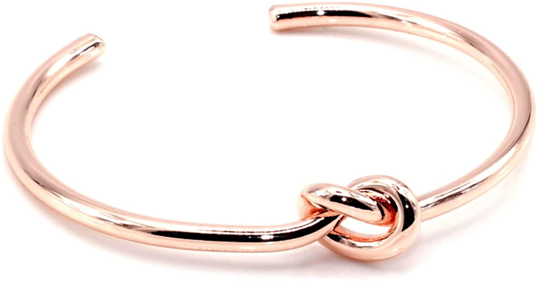 Maya Bracelets Circular Knot Cuff Bangle Bracelet
