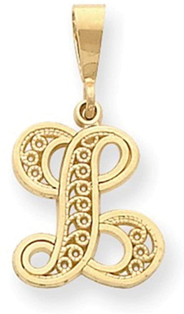 Jewelry Adviser Charms 14k Initial L Charm