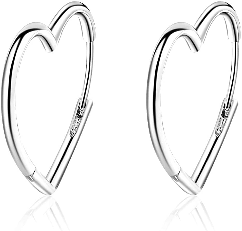 Balluccitoosi Sterling Silver 14k Gold Plated Hypoallergenic Small Cute Hoop Earrings for Sensitive Ears, Dainty Minimalist Real Nickel Free Jewelry, Hoops Earring for Women