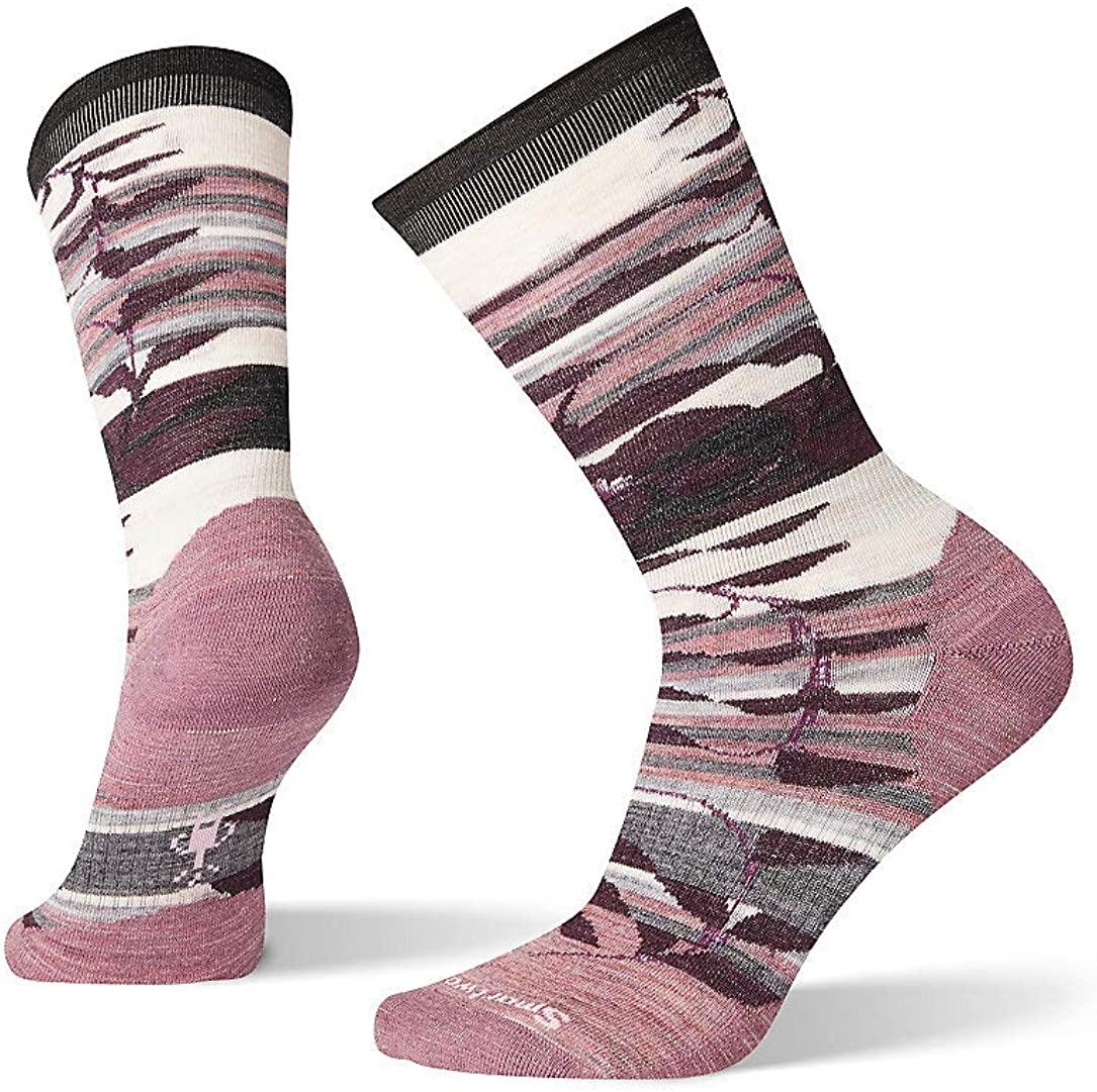 Smartwool Pressure Free Crew Sock - Women's Non-Binding, Palm Print, Ultra Light Cushioned Merino Wool Performance Sock