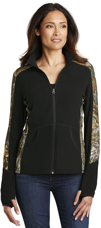 Port Authority Ladies Camouflage Microfleece Full-Zip Jacket-L230C-XS