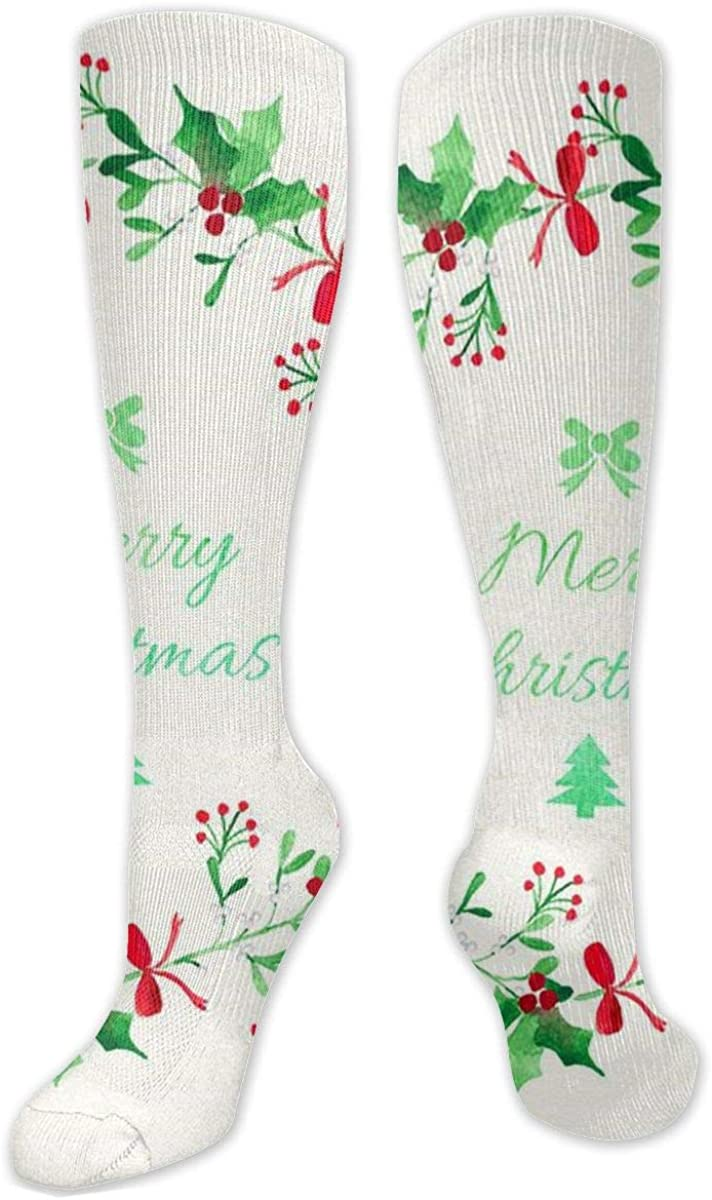 Hand Painted Garland Knee High Socks Leg Warmer Dresses Long Boot Stockings For Womens Cosplay Daily Wear