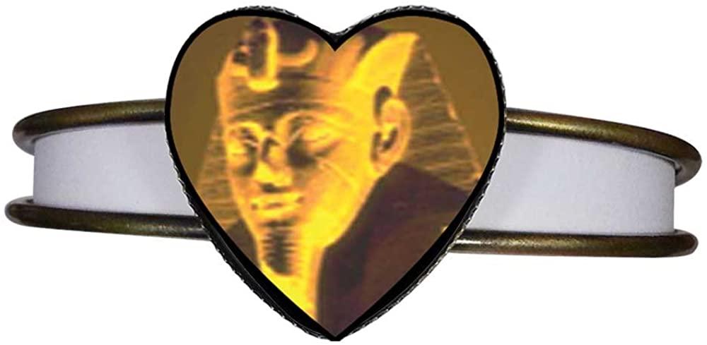 GiftJewelryShop Bronze Retro Style Egyptian Great Sphinx Heart Cuff Bangle Bracelet Fashion Jewelry