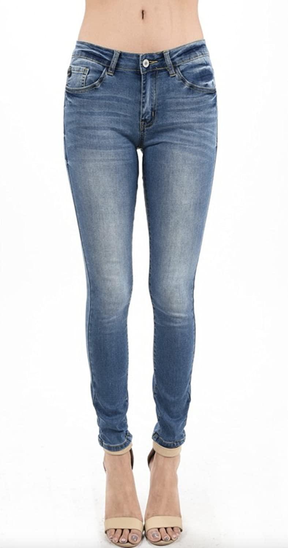 Kan Can Women's Skinny Jeans (7, Medium 2)