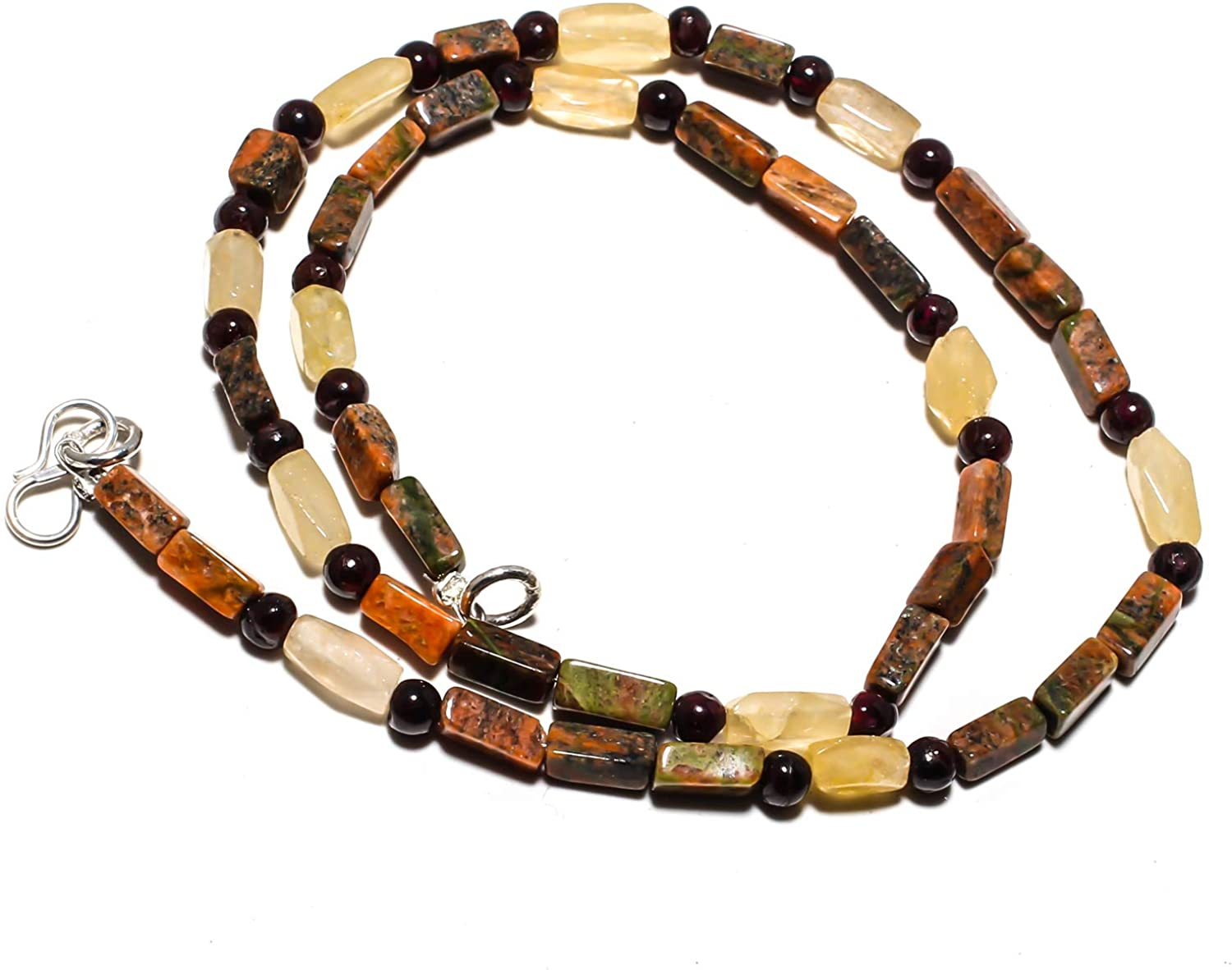 kanta incorporation Unakite Natural Gemstone Beads Jewelry Necklace 17