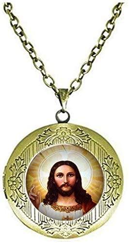 Jesus Bible Locket Necklace Fashion Gift Jewelry Glass Art Photo Jewelry