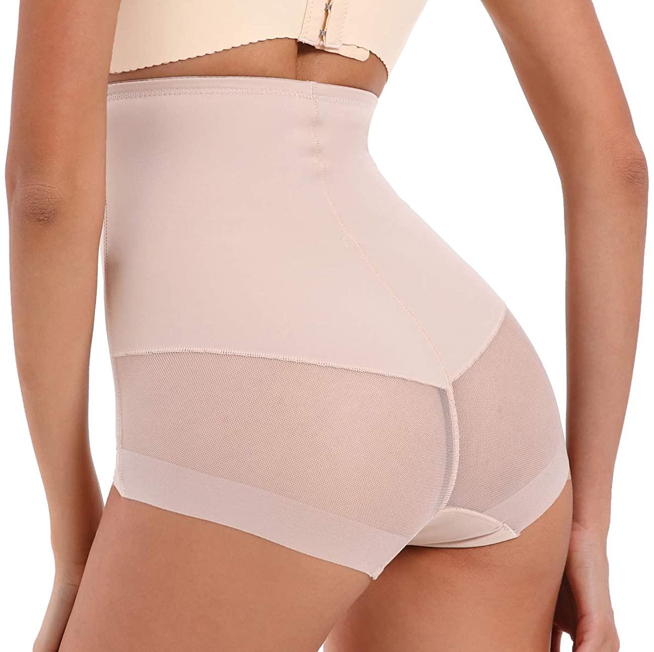 Larry&Marry Women Body Shaper Hi-Waist Tummy Control Panty Shapewear Slim Saist Trainer Butt Lifter Brief