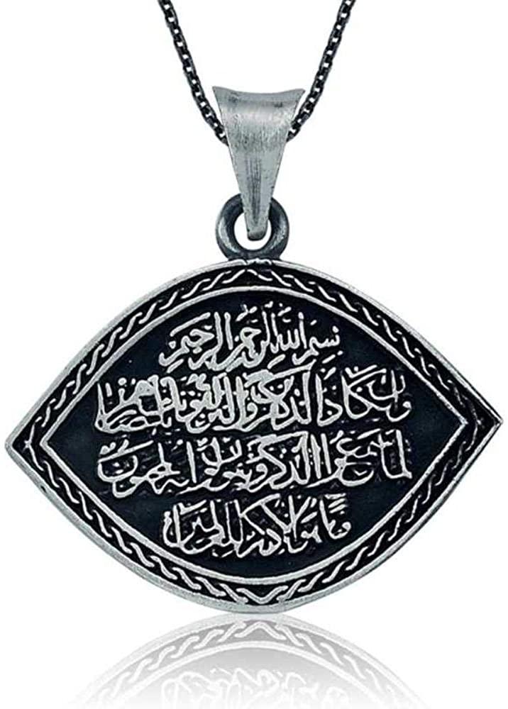 KOKANA Amulet Necklace Allah Islam Muslim Pendant for Women