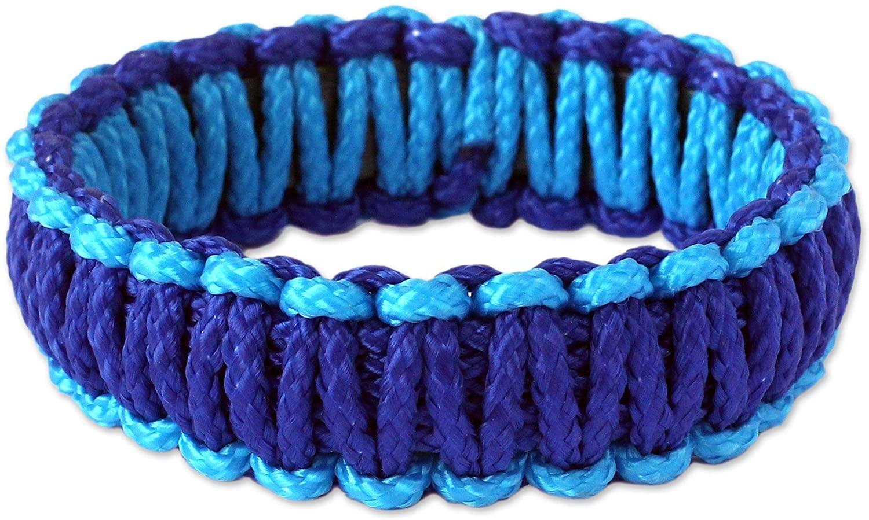 NOVICA Bangle Bracelet, Queen Amina in Blue'