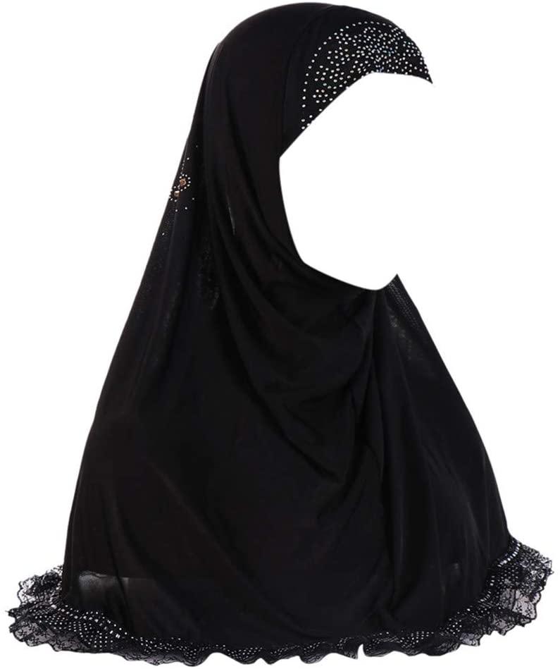 CapsA Muslim Hijab for Women Shimmer Sparkle Gold Glitters Plain Chiffon Scarf Shawl Head Wrap