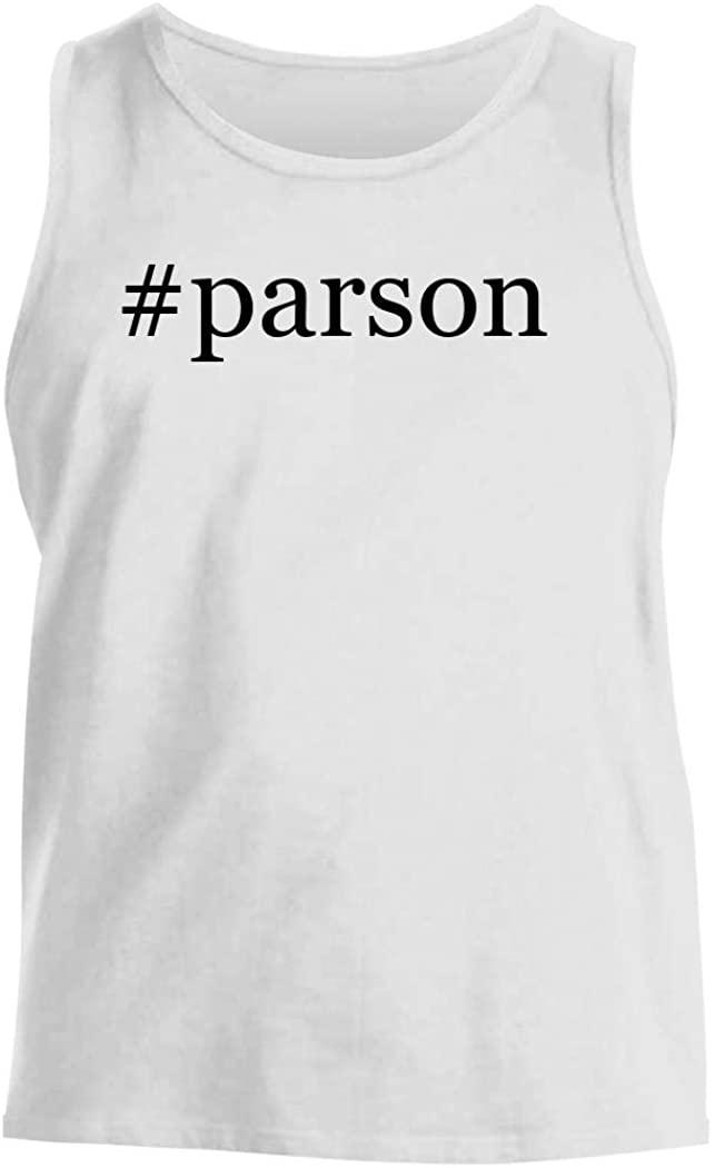#parson - Men's Hashtag Comfortable Tank Top, White, Medium