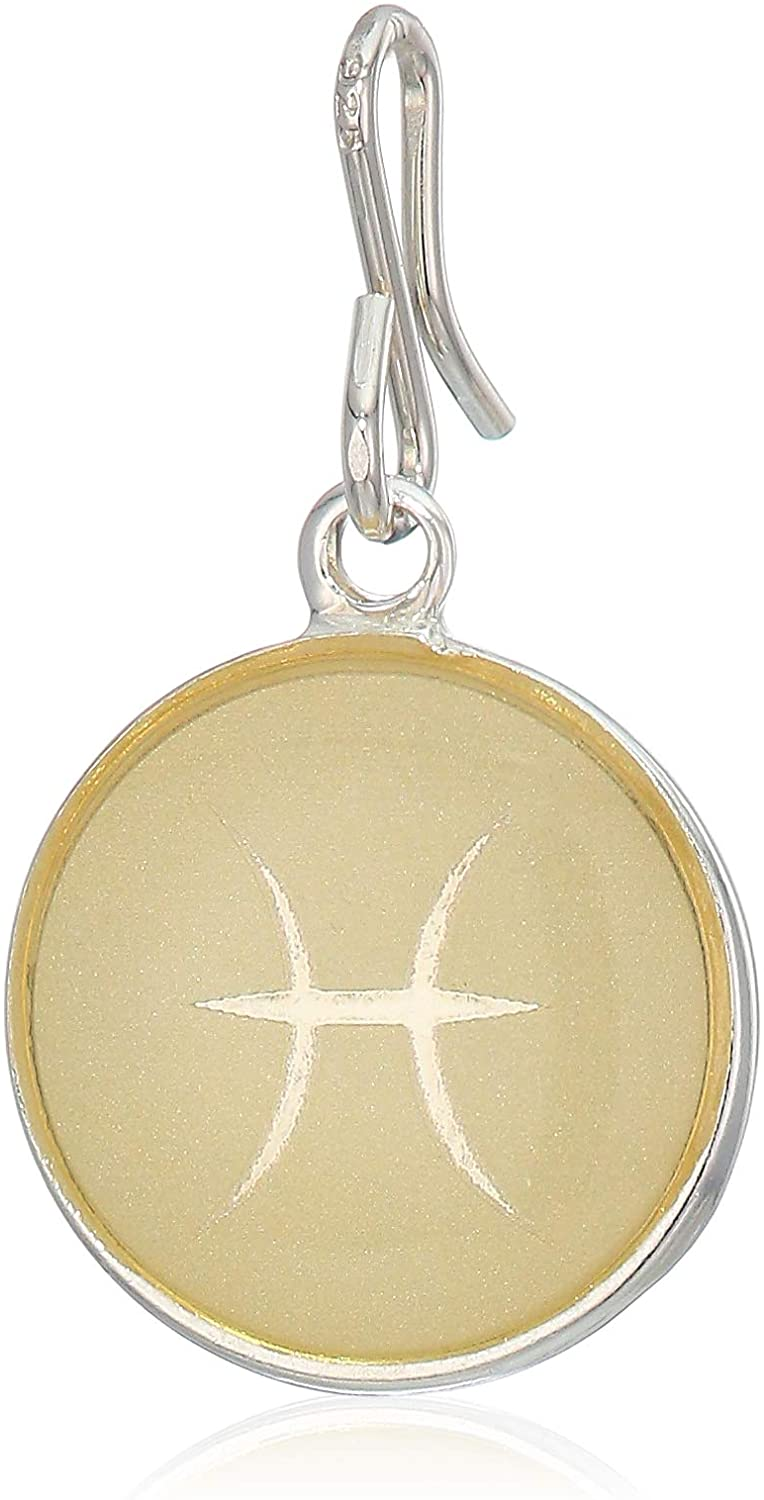 Alex and Ani Women's Etching Charm Pisces Small Sterling Silver, Expandable