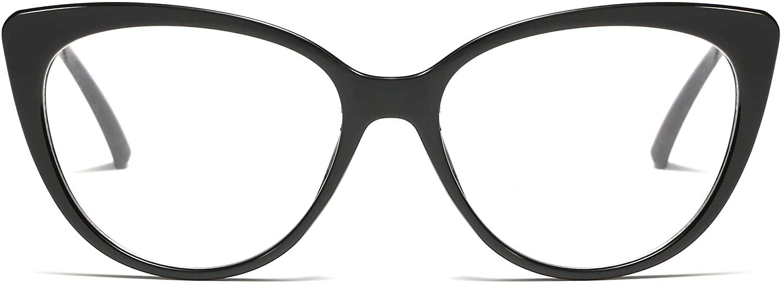 AZRRA Womens Cat Eye Optical Eyewear Fashion Glasses Frame Non Prescription Mod eyeglasses With Clear Lens B1300