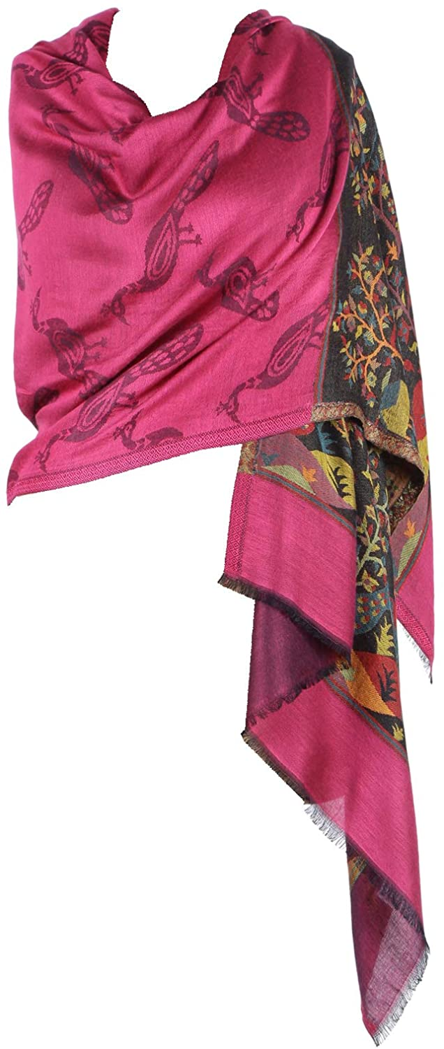 Pashmina Shawls and Wraps - Pure Modal Peacock Paisley Cashmere Scarfs for Women