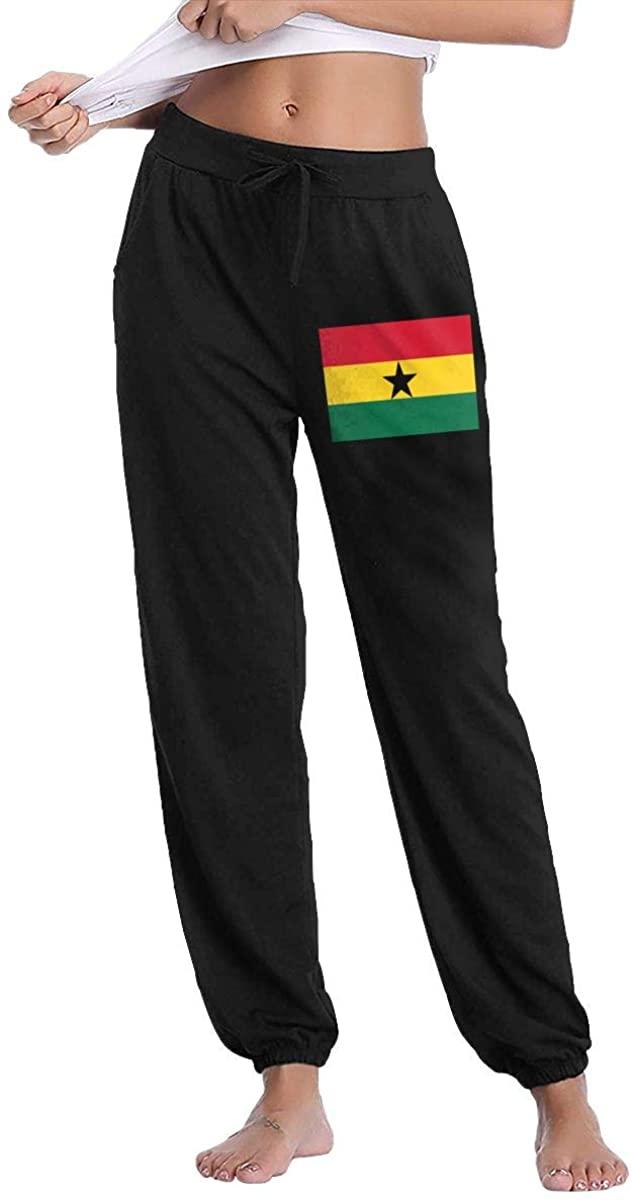 Women's Casual Sweatpants Ghana Flag Fitness Training Jogger Pants