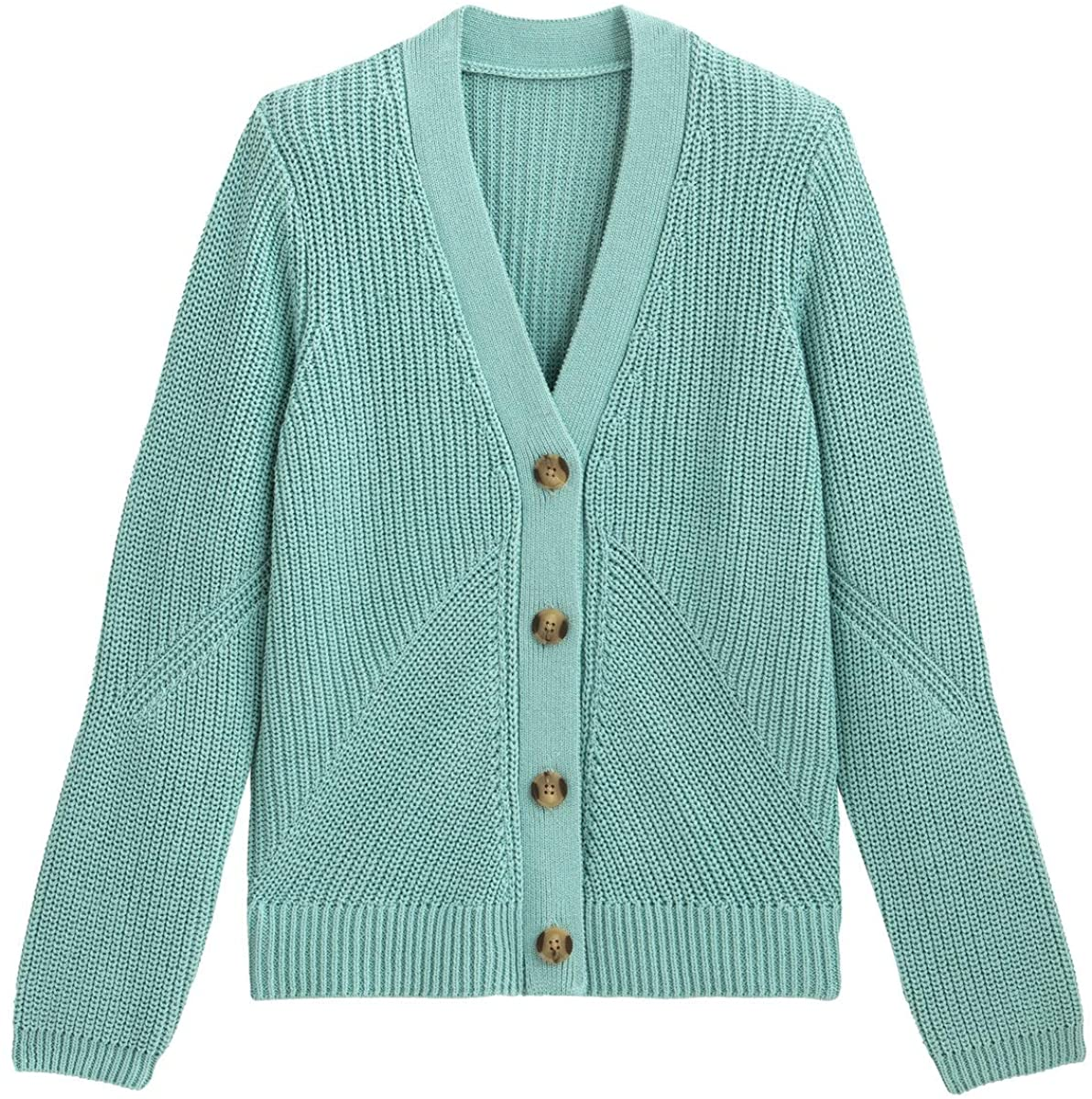La Redoute Collection Womens Cotton Ribbed Cardigan