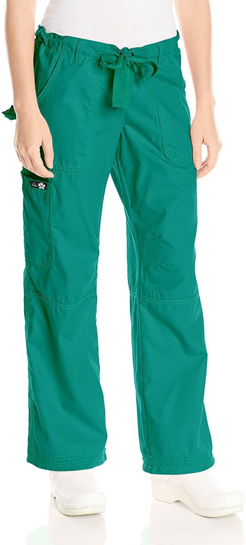 KOI Women's Lindsey Ultra Comfortable Cargo Style Scrub Pants Sizes, Hunter, X-Small Petite