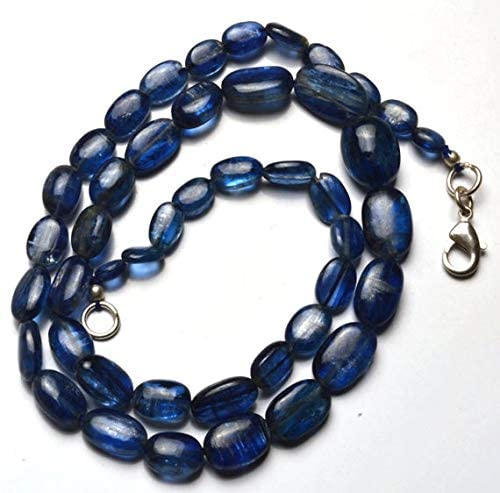 GemAbyss Beads Gemstone 1 Strand Natural 16 inch Natural Gemstone Super Quality Dark Kyanite Nuggets Beads Full Strand Fine Quality Beads Necklace 5 to 12.5 MM Code-MVG-29674
