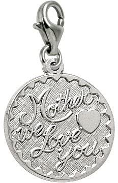 Rembrandt Charms Mother We Love You Charm with Lobster Clasp