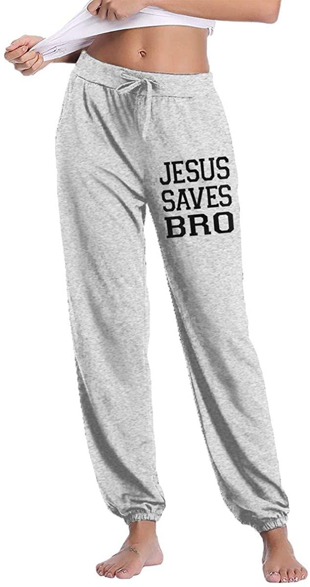 Women's Casual Sweatpants Jesus Saves Bro Fitness Training Jogger Pant