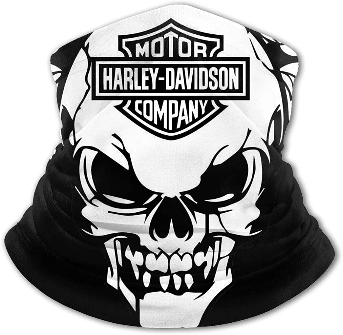 Harley Davidson Kids Bandanas Face Mask Mouth Cloth Cover Balaclavs Tube Headband for Dust Sun Protection Black