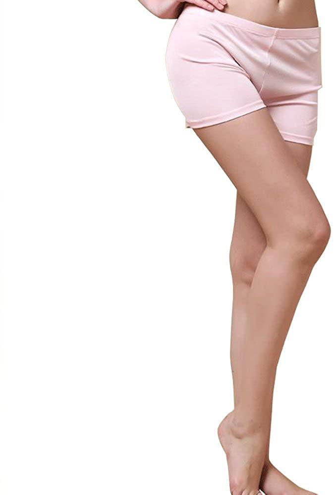 OpenHappiness Women Boyshort/Panty 100% Knitted Silk Anti-Emptied 1pc