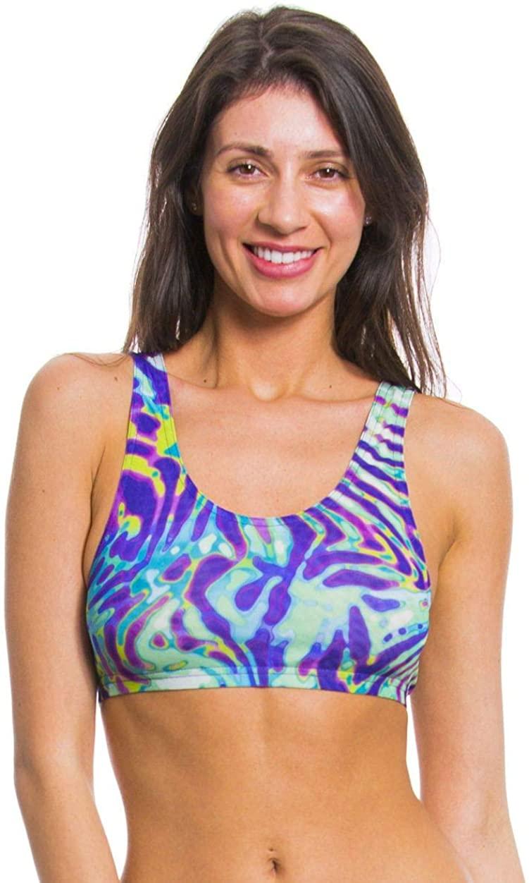Kiniki Coral Tan Through Cropkini Bikini Top
