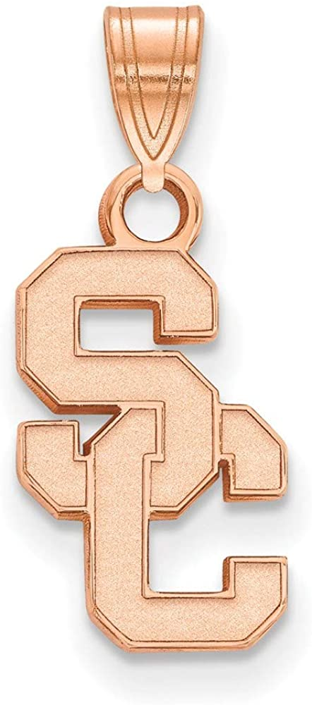 Solid 14k Rose Gold Official University of Southern California Small Pendant Charm