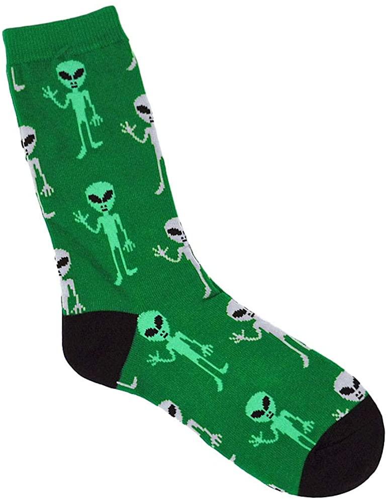 Ace USA Space Alien UFO Women's Socks Size 8-11