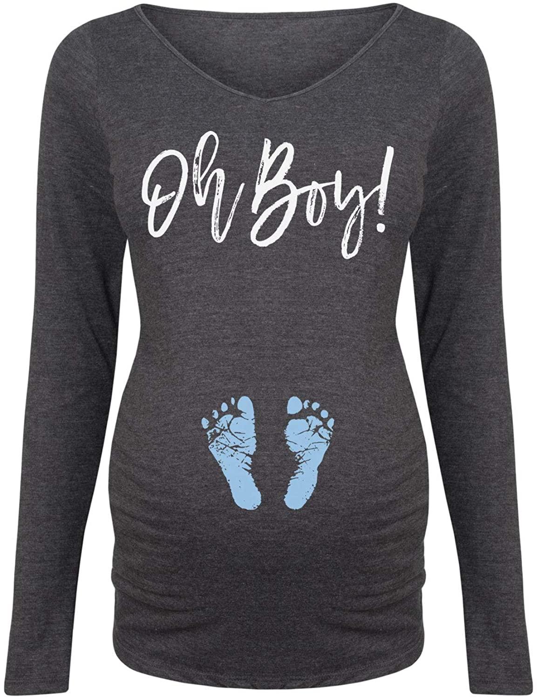 Oh Boy - Maternity Long Sleeve Tee