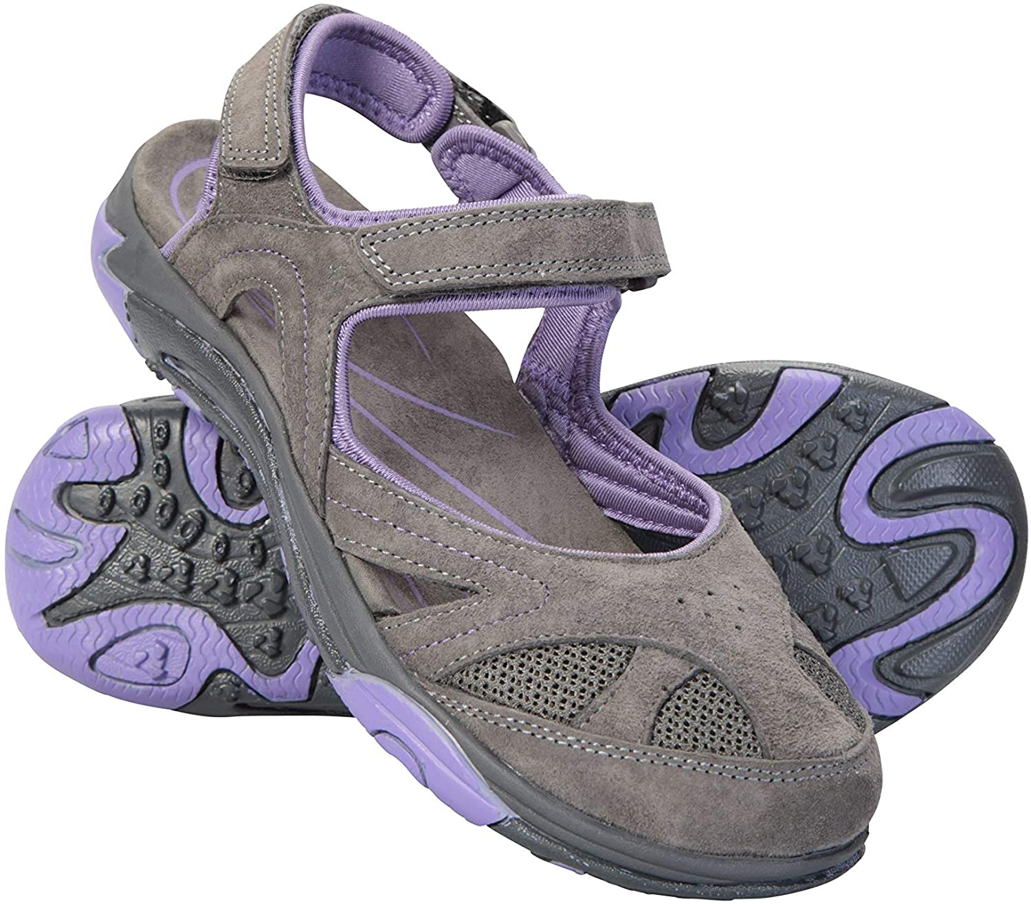 Mountain Warehouse Bournemouth Womens Covered Sandals - for Summer Dark Purple Womens Shoe Size 6 US