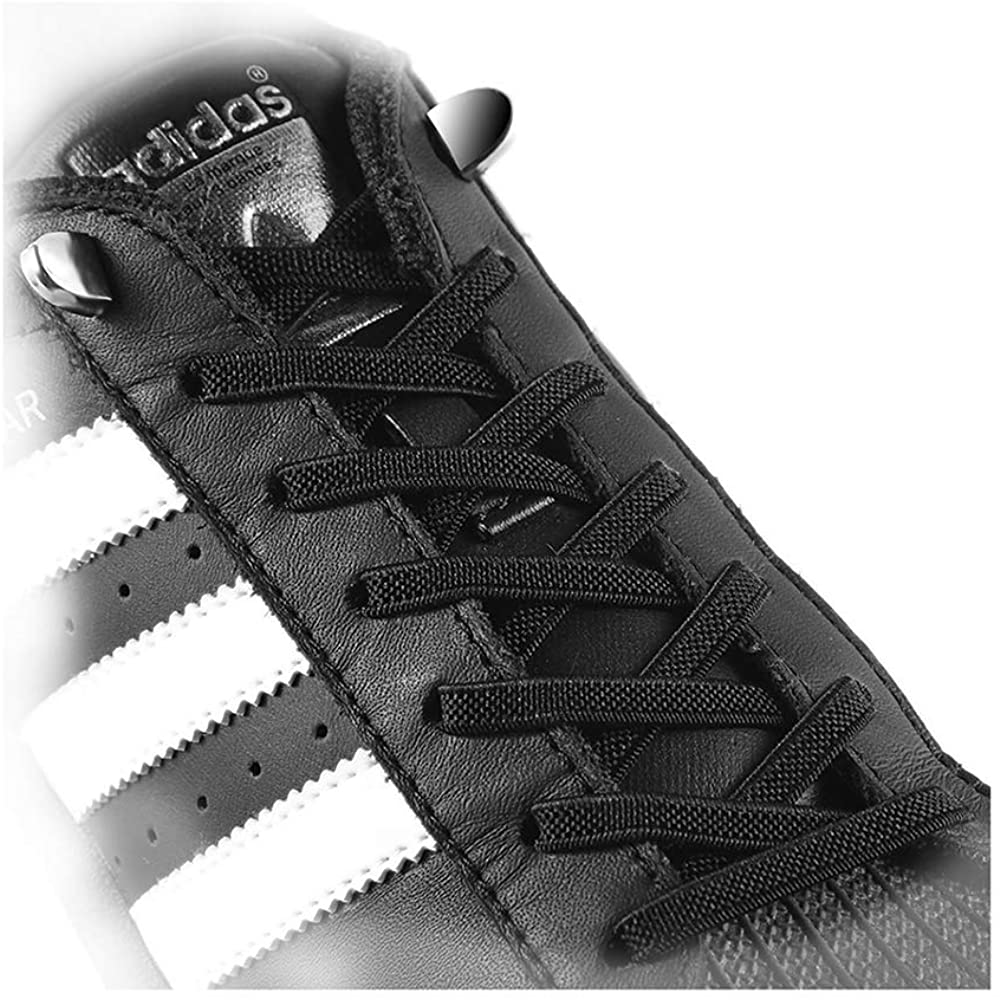 No Tie Elastic Shoelaces fit Adults and Kids, for Sneaker and Casual Shoes