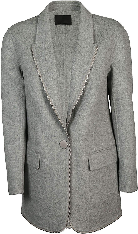 Alexander Wang Luxury Fashion Woman 1W282019D9030 Grey Wool Coat   Season Outlet