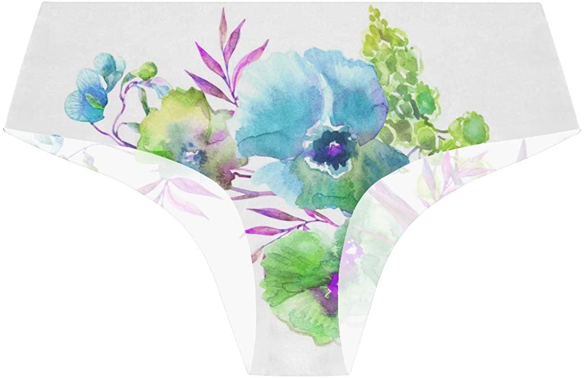 Randolph Wordsworth Beautiful Summer Flowers Womens Hipster Panties Seamless Cheekini Panty Bikini Underwear