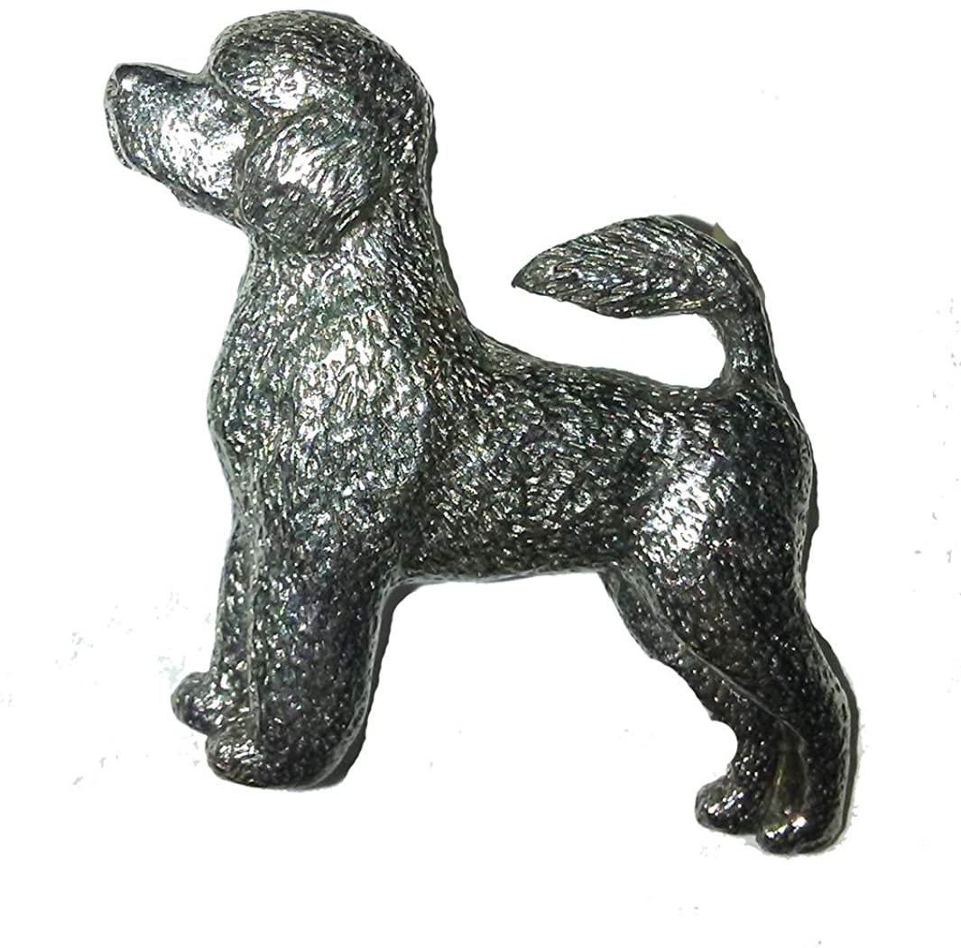 Portuguese Water Dog Pewter Lapel Pin Brooch - USA Made - Hand Crafted