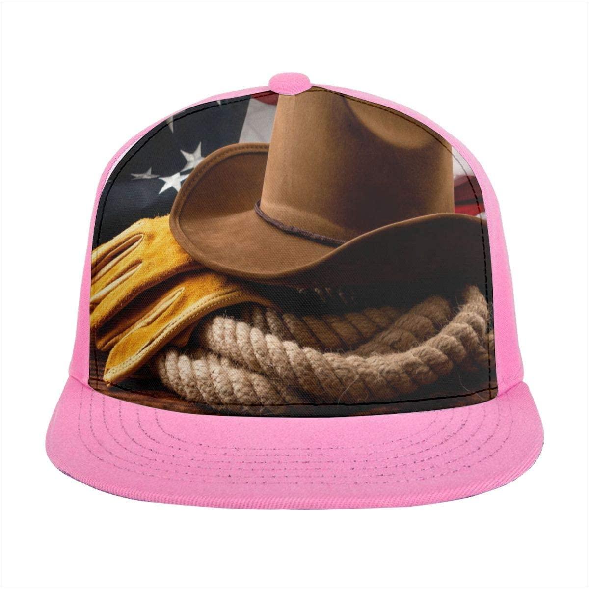 SLHFPX Sun Visor Hat American Culture Baseball Cap Flat Brim Hat for Women Men Summer