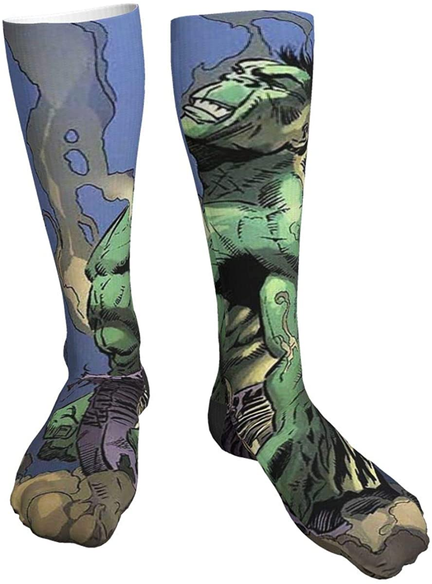 Casual Knee High Socks Painting Hulk Compression Socks For Men Women Running, Hiking And Travel