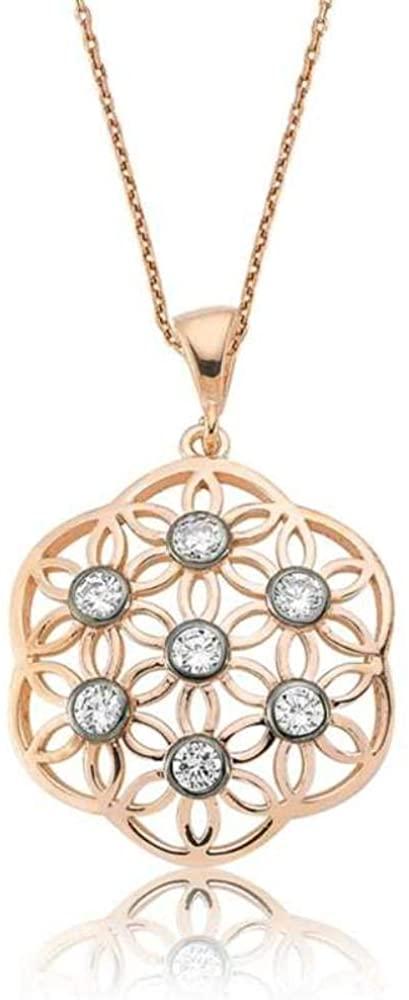 KOKANA Silver Plate White Tree of Life Necklace for Women and Girls, Anniversary, Birthday, Wedding Gift