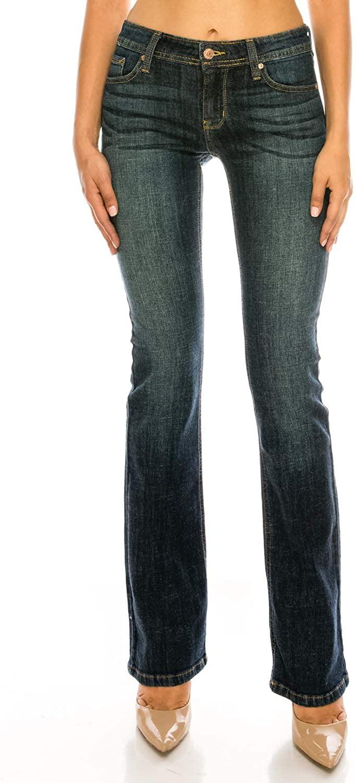 Eunina Women's Basic Slim Bootcut Jeans