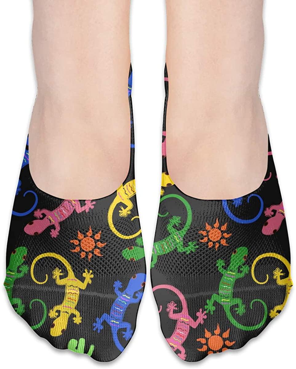 No Show Socks For Women Lizard Gecko Low Cut Sock Liners Invisible Socks